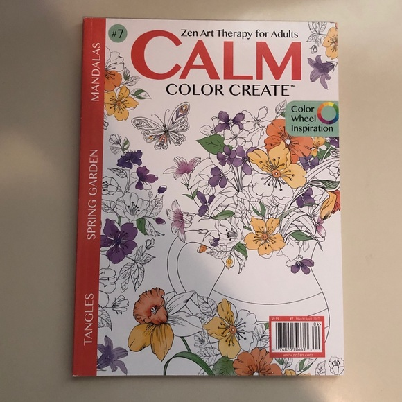 Office Brand New Calm Color Create Coloring Book Poshmark